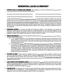 residential property lease agreement template sle residential lease agreement 9 documents in pdf