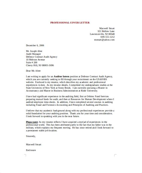Professional Cover Letter by 8 Sle Professional Cover Letters Sle Templates