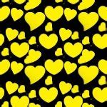 Yellow Heart Wallpaper | Yellow Hearts On Black Background ... Yellow Hearts Wallpaper
