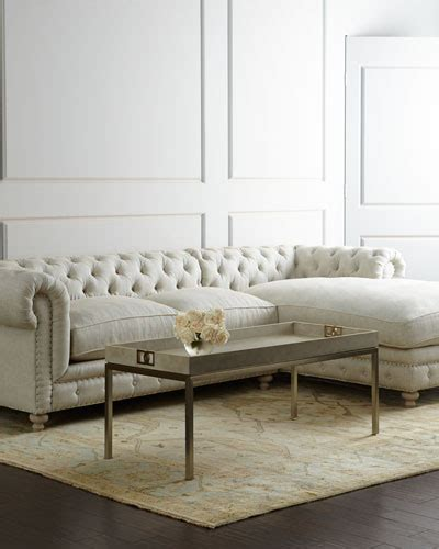 horchow couch linen living room furniture horchow com