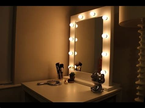 mirror with lights ikea vanity mirror with lights ikea youtube