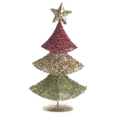 sparkling mesh christmas tree trees and toppers