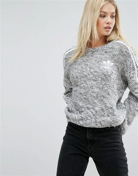 adidas knit sweater adidas originals adidas originals three stripe chunky