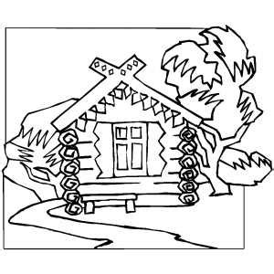 wood house coloring pages wood house in the forest coloring page