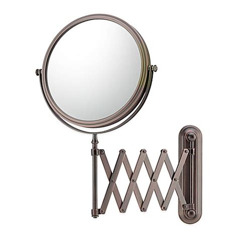 bathroom mirror wall mount with extension arm buy 5x 1x extension arm wall mirror in bronze from bed
