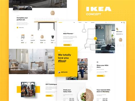 ikea app redesign concept on behance ikea online concept homepage by luke pachytel dribbble