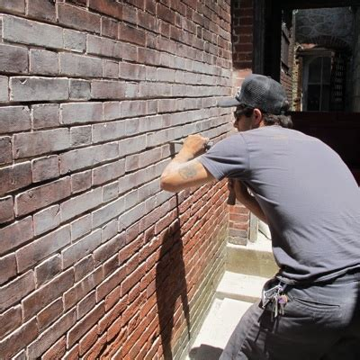 Repointing A Fireplace by Repointing Porous Mortar Joints Brickwork Walls Chimneys
