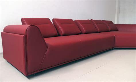 divano in pelle di alta qualit 224 con penisola divani a