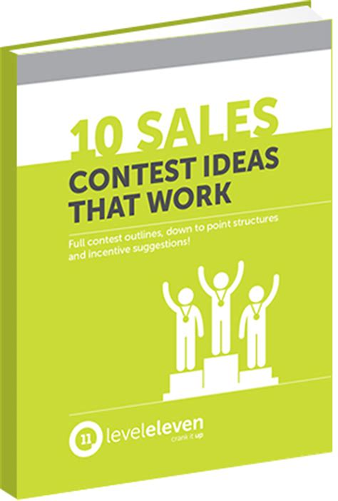 contest ideas 10 sales contest ideas that work free ebook leveleleven