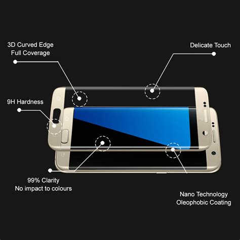 Grace Samsung S7 Flat Tempered Glass Pet 3d Cover Lis Putih white 3d tempered glass screen protector samsung galaxy