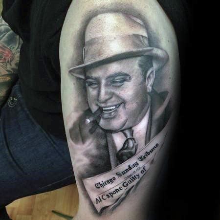al capone tattoos 50 al capone tattoos for gangster design ideas