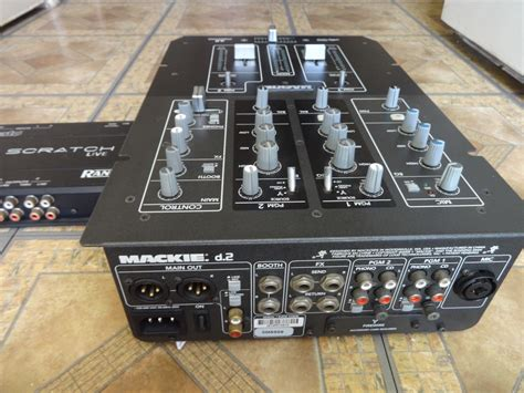 Mixer Mackie 6 Channel mackie d2 pro two channel dj mixer with bonus serato sl