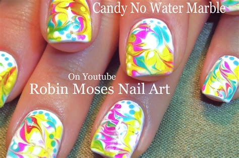 marble nail art tutorial without water nail art by robin moses no water marble nail art design
