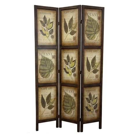 Folding Screen Room Divider Shop Furniture Room Dividers 3 Panel Mocha Folding Indoor Privacy Screen At Lowes
