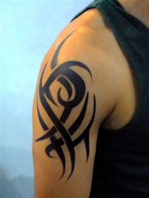 mens tribal shoulder tattoo 50 tribal tattoos for inspirationseek