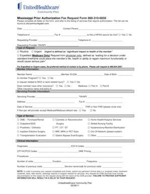 fillable medicaid ms unitedhealthcare prior