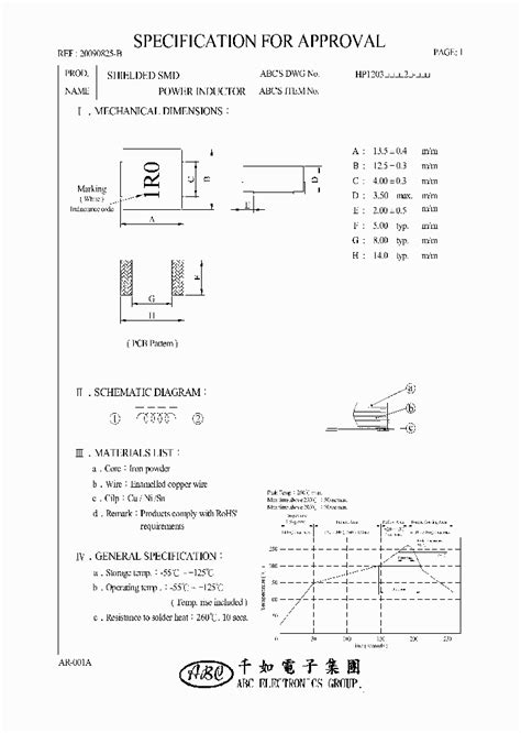 smd power inductors datasheet hp1203r33m2 4621118 pdf datasheet ic on line