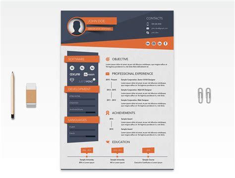 creative resume cv design template ai file good