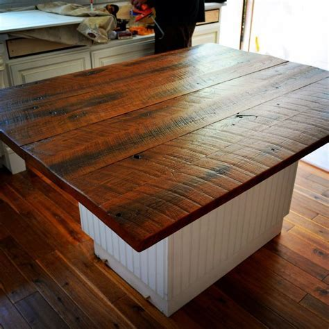 reclaimed barnwood island   Google Search   kitchen