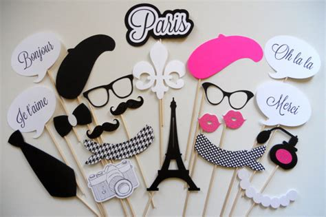 free printable paris themed photo booth props paris photo booth props parisian photo booth props photo