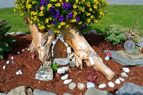 tree trunk ideas   excellent decor   garden