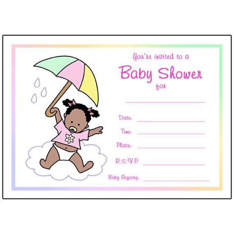 Fill In Baby Shower Invitations by Umbrella Baby Fill In The Blank Shower Invitation