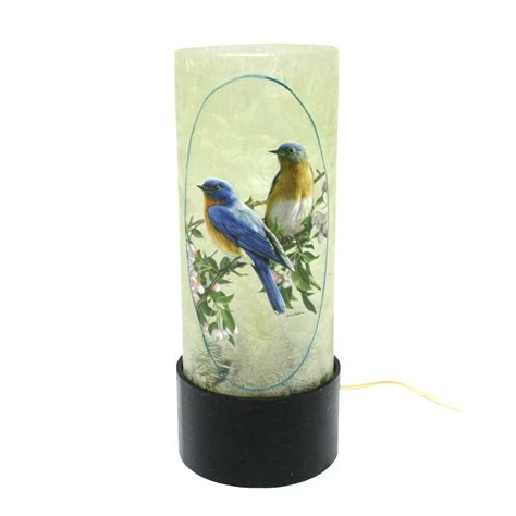 Lighted Vases by Stony Creek 31986 12 5 Quot X 4 75 Quot Bluebirds Lighted Glass