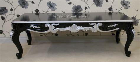 black silver ornate marbella coffee table hshire