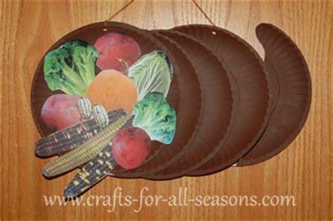 Paper Plate Food Crafts - paper plate cornucopia