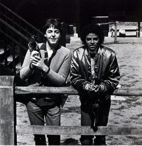 And Paul To Co In Thriller images paulmccartney and michaeljackson michael