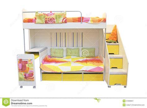le lit 224 deux 233 tages image stock image du bois