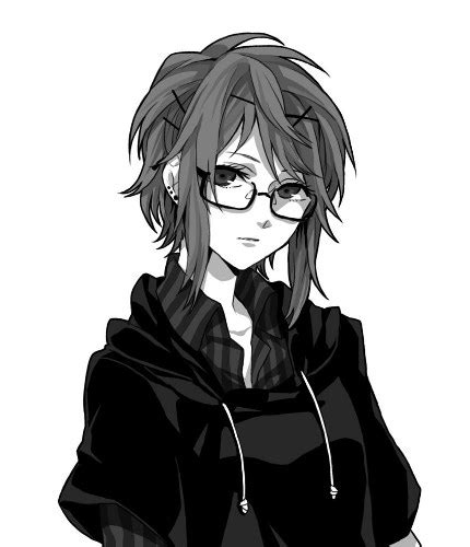 anime tomboy girl with glasses and short dark hair megpoid gumi vocaloid image 1555260 by lovely jessy
