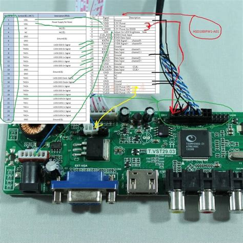 Lcd Tv Controller Board geekcreit 174 v56 universal lcd tv controller driver board pc vga hdmi usb interface images