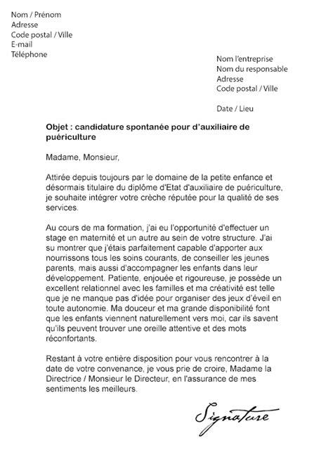 Resiliation Creche Lettre Lettre De Motivation Auxiliaire De Pu 233 Riculture Mod 232 Le