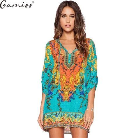 gamiss 2017 summer vintage ethnic dress brand