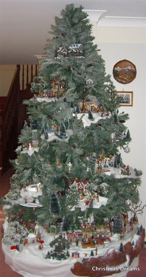 christmas village tree display pattern lemax christmas tree display 2 a lemax village display