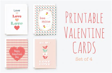 Valentines Cards Word Template by Printable Cards Card Templates On Creative Market