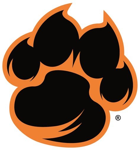 tiger paw print logo pictures to pin on pinterest pinsdaddy