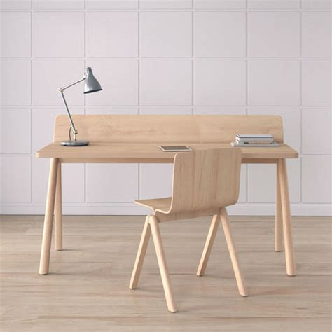 scandinavian desk work desk scandinavian brown 3d model cgtrader