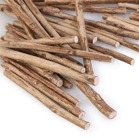 and sticj 100pcs 10cm long 0 5 0 8cm in diameter wood log sticks