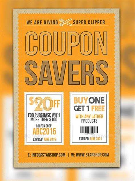 Coupon Flyer Template by Coupon Flyer Template Images