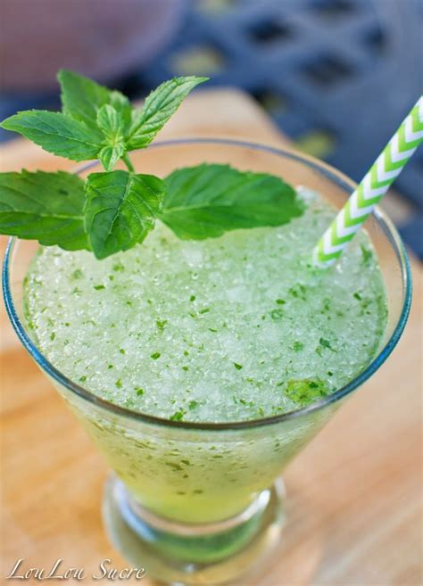 frozen mojito thirsty thursday frozen mojitos loulou sucre frozen