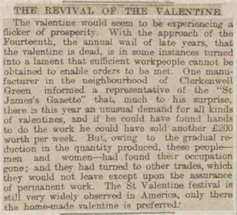 the story valentines day st valentine s day stories the newspaper archive