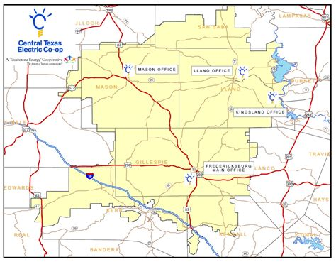texas electric cooperatives map office information central texas electric cooperative