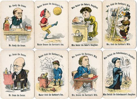 Card Cars Happy Family cheery families c 1893 the world of cards