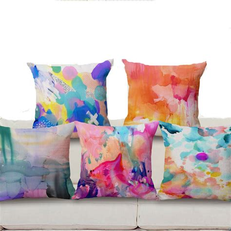 colorful bed pillows square 18 colorful cluod cushion ヾ ノ cover cover