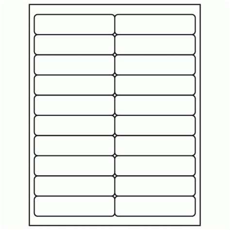 1 label template 1 quot x 4 quot white laser inkjet address sheet label ml 2000