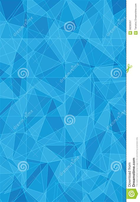 pattern triangle blue blue triangle texture stock vector image 58290267
