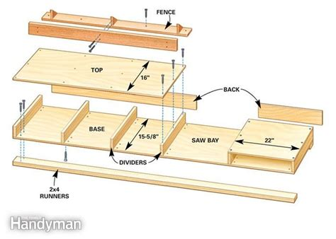 build miter saw bench how to build a miter saw table box design woodworking
