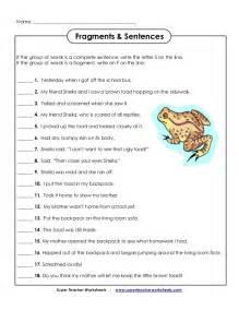 sentence fragment worksheets abitlikethis